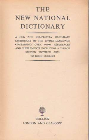 Obal knihy THE NEW NATIONAL DICTIONARY