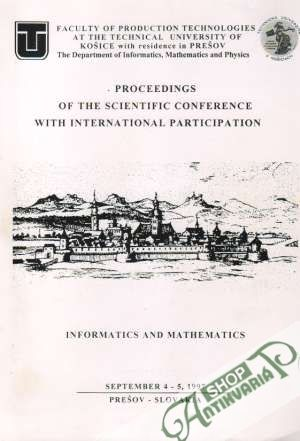 Obal knihy Proceedings of the Scientific Conference with International Participation