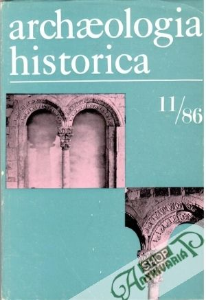 Obal knihy Archaeologia historica 11/86