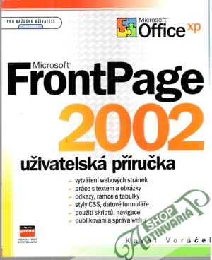 Obal knihy Microsoft FrontPage 2002